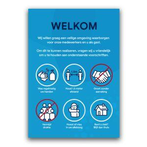 Welkomstpaneel: voorschriften (blauw)