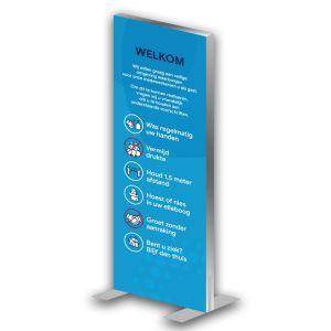 Informatiezuil: voorschriften - luxe (blauw)