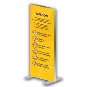 Informatiezuil: voorschriften - luxe (geel)