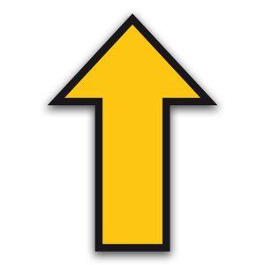 Vloersticker pijl - gladde binnenvloer (geel)