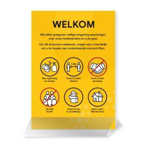 Presentatiekaart: voorschriften - incl. houder (geel)