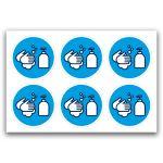Pictogramstickers: handen wassen (blauw)